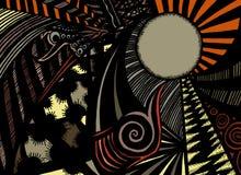 Doodle nei colori sottomessi Fotografie Stock