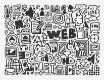 Doodle network element Stock Image