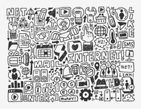 Doodle network element Royalty Free Stock Image