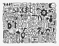 Doodle network element Royalty Free Stock Photography