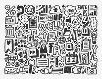 Doodle network element Royalty Free Stock Images