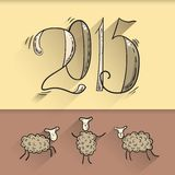 Doodle new year Royalty Free Stock Images