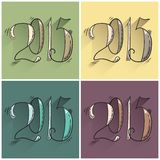 Doodle new year. Happy 2015 new year. Set of doodle illustration. Vector Stock Photo