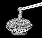 Doodle noodle Royalty Free Stock Photography