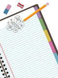 Doodle notebook Stock Photography