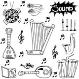 Doodle of object music set Royalty Free Stock Image
