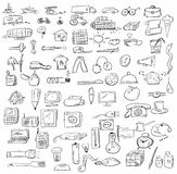 doodle objects business icons Royalty Free Stock Photo
