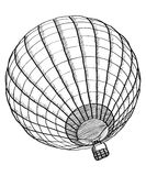 Doodle Of Hot Air Balloon Vector Sketch Up Line. Stock Image