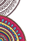 Doodle ornament coloring book cover. Page of adult coloring book. Colorful flower card. Stock Images