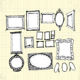 Doodle Ornaments Photo Frames Royalty Free Stock Photography