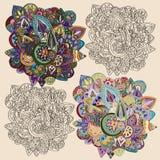 Doodle ornamenty Zdjęcia Stock