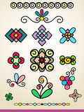 Doodle ornamenty, dekoracje i dividers, Fotografia Royalty Free