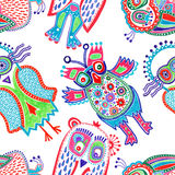 Doodle owl marker drawing Royalty Free Stock Photo