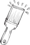 Doodle Paint Brush Vector Stock Image