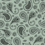 Doodle paisley seamless Stock Photo