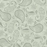 Doodle paisley seamless Stock Images