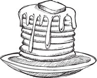 Doodle Pancake Breakfast Vector Stock Photography