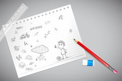 Doodle on Paper Royalty Free Stock Photos