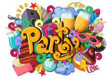 Doodle on Party concept Royalty Free Stock Photo