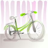 Doodle pastel bike. Doodle bicycle illustration in pastel colors Royalty Free Stock Image