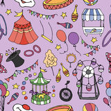 Doodle patern circus Stock Image