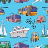Doodle patern transport Obraz Royalty Free