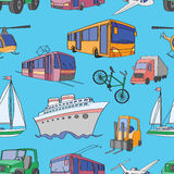 Doodle patern transport Royalty Free Stock Image