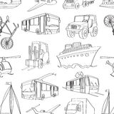 Doodle patern transport Royalty Free Stock Images