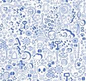 Doodle pattern stock illustration