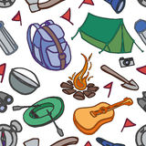 Doodle pattern adventure Royalty Free Stock Photography
