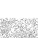 Doodle pattern black and white Royalty Free Stock Image