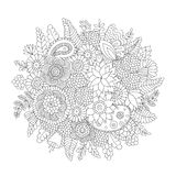 Doodle pattern black and white Royalty Free Stock Photography