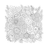 Doodle pattern black and white Stock Image