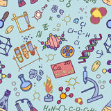 Doodle pattern chemistry Royalty Free Stock Images