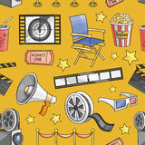 Doodle pattern cinema Royalty Free Stock Photography