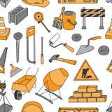 Doodle pattern construction Stock Photo