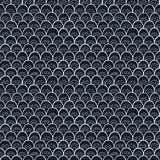 Doodle pattern like fish scale. Stock Image