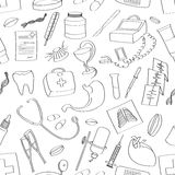 Doodle pattern Medical Royalty Free Stock Photo