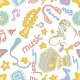 Doodle pattern music Stock Photo