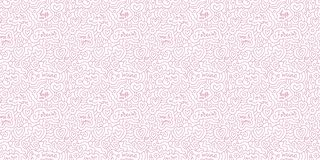 Doodle pattern for print design with sketch hearts. Abstract geometric background. Cute fabric texture for modern graphic design.