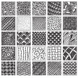 Doodle pattern set Royalty Free Stock Images