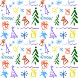 Doodle pattern with symbols royalty free illustration