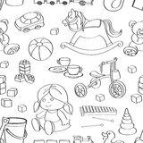 Doodle pattern toys Royalty Free Stock Images