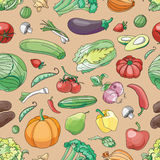 Doodle pattern of vegetables Stock Photography