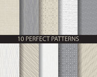 10 doodle patterns. 10 different beautiful classic linear and dot patterns. Endless texture can be used for wallpaper, pattern fills, web page background,surface royalty free illustration