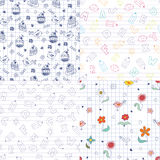 Doodle patterns Stock Images