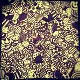 Doodle. Pen art royalty free stock images