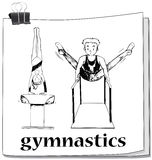 Doodle of people doing gymnastics Stock Images