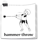 Doodle of people doing hammer-throw. Illustration Stock Photography