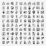 Doodle People Icons Stock Photography